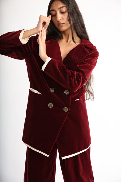 Annother [Archive] Nobility Jacket in Garnet front