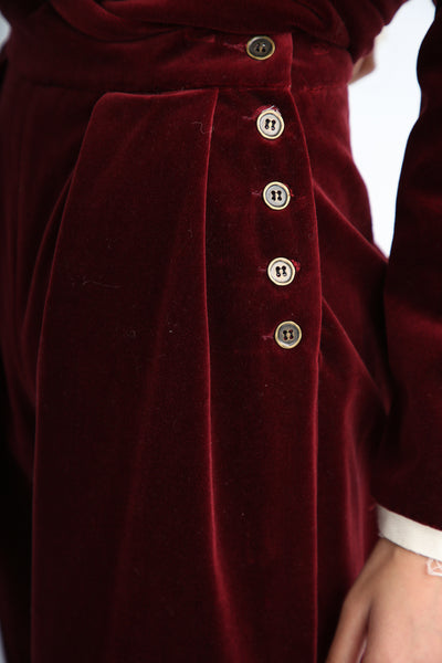 Annother [Archive] Nobility Trousers in Garnet side button detail