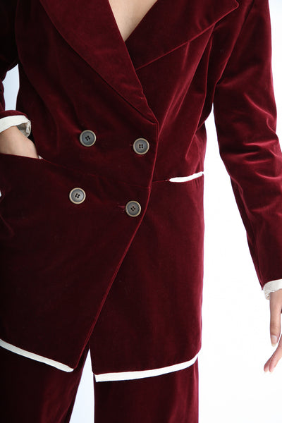 Annother [Archive] Nobility Jacket in Garnet button detail