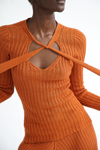 Baserange Etel Long Sleeve in Umber front