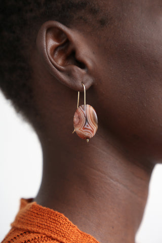 Mary MacGill Stone Drop Earrings in Red Agate