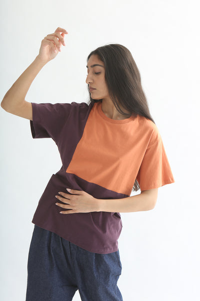 Correll Correll Ecke T-Shirt in Plum/Orange front