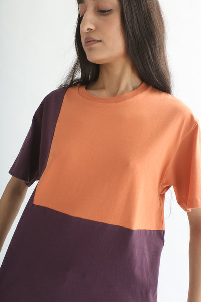 Correll Correll Ecke T-Shirt in Plum/Orange front detail