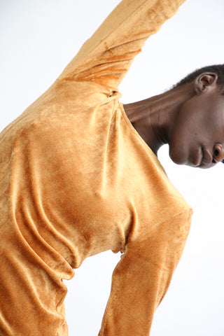 Baserange Omo Long Sleeve Tee in Camel