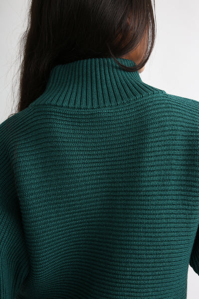 Rito Round Sleeve Sweater in Green back detail