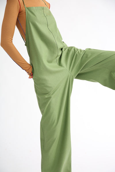 Baserange Yumi Jumpsuit in Sun Moss Green side