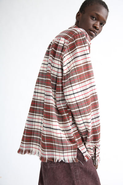 Dr. Collectors Picasso Japanese Plaid Top in Brown side