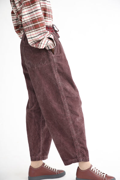 Dr. Collectors P43 Kyoto Corduroy Pant in Oil Grape side