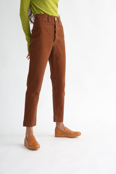 Ranger Pant in Fine Cotton Canvas Skintone side view