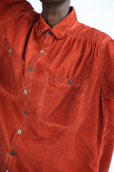 Dr. Collectors Picasso Corduroy Top in Oil Rust pocket