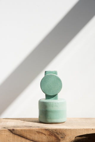 BZIPPY Circle Top Short Vase in Jade | Oroboro Store | Brooklyn, New York