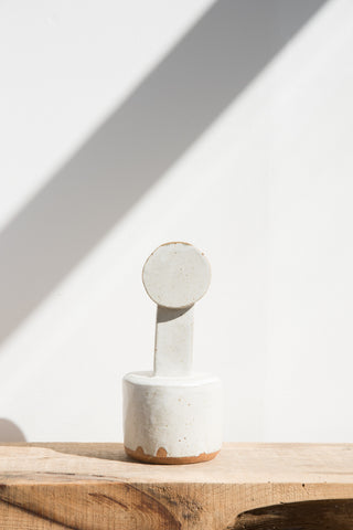 BZIPPY Circle Top Short Vase in Cream | Oroboro Store | Brooklyn, New York