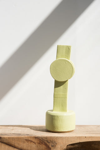 BZIPPY Circle Top Tall Vase in Lime | Oroboro Store | Brooklyn, New York