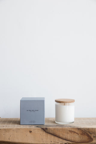Le Feu De L'eau Candle in Gris- Musk + Smoke| Oroboro Store | Brooklyn, New York