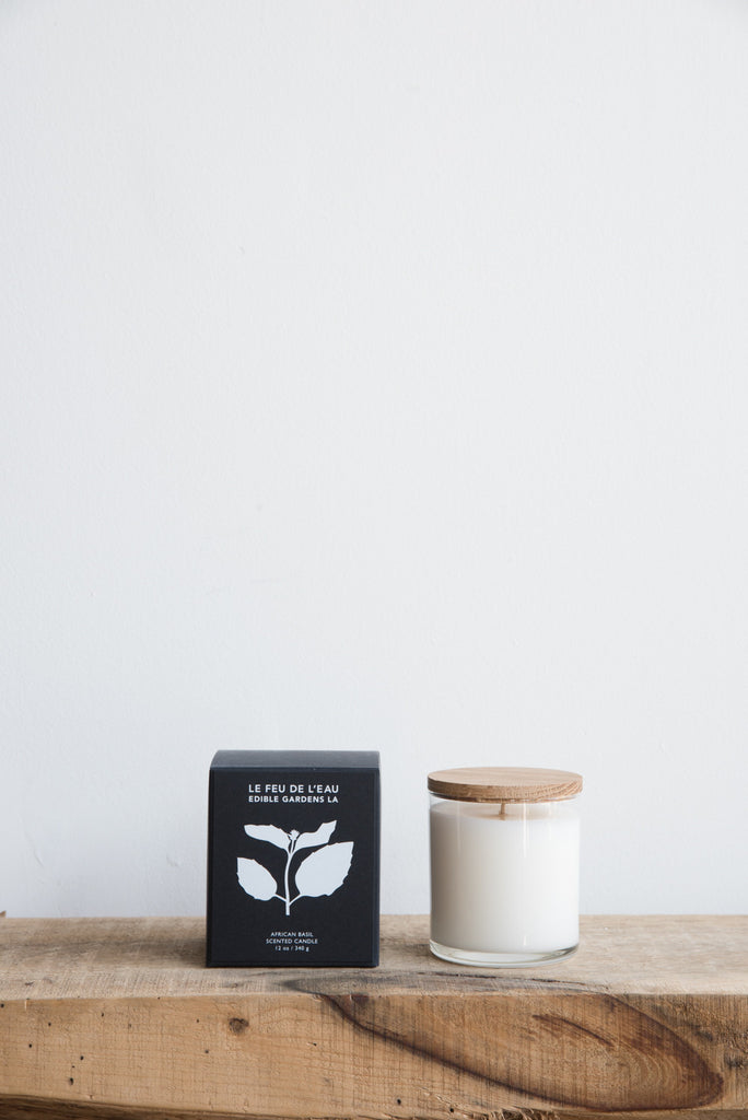 Le Feu De L'eau Candle in African Basil | Oroboro Store | Brooklyn, New York
