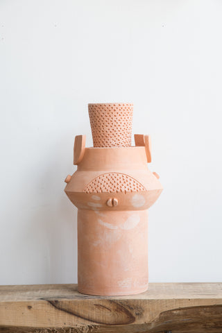 BZIPPY XL Oval Vase in Terra Cotta Finish| Oroboro Store | Brooklyn, New York