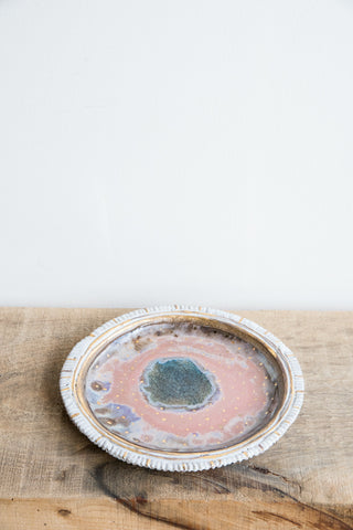 Minh Singer Pink & Gold Iceland Plate | Oroboro Store | Brooklyn, New York