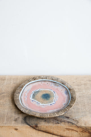 Minh Singer Pink & Blue Iceland Plate | Oroboro Store | Brooklyn, New York