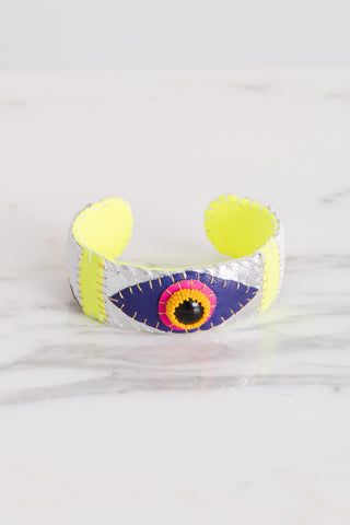 Robin Mollicone Eye Cuff in Onyx/Pink | Oroboro Store | Brooklyn, New York