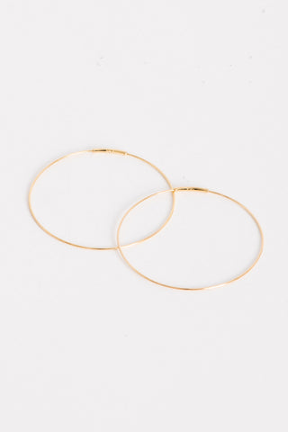 Kathleen Whitaker Medium Hoop Earrings in Gold | Oroboro Store | Brooklyn, New York