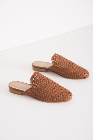 Brother Vellies Woven Slide in Whiskey | Oroboro Store | Brooklyn, New York