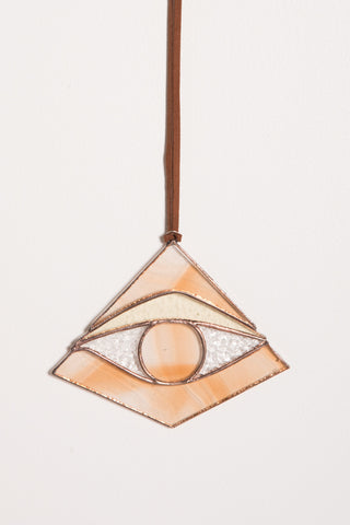 Colin Adrian Stained Glass Third Eye in Smooth Orange | Oroboro Store | New York, NY