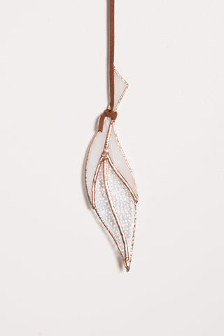 Colin Adrian Stained Glass Small Feather in White | Oroboro Store | New York, NY