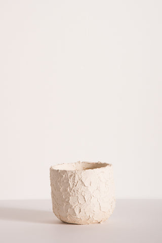 MONDAYS Porcelain Stucco Planter in White | Oroboro Store | New York, NY