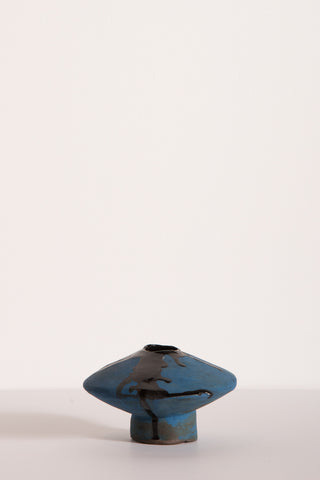 MONDAYS Flying Saucer Vase in Blue/Black | Oroboro Store | New York, NY