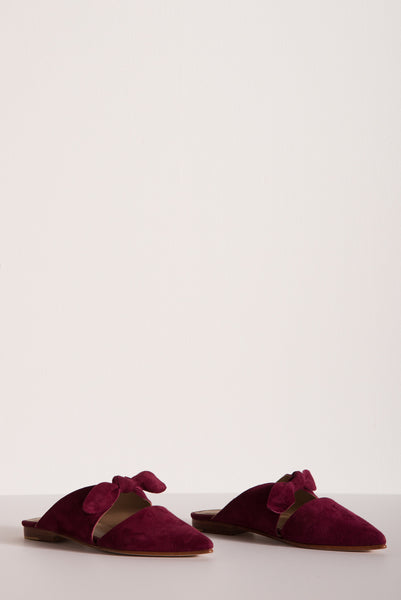 Ulla Johnson Lilo Babouche in Bordeaux Suede | Oroboro Store | New York, New York