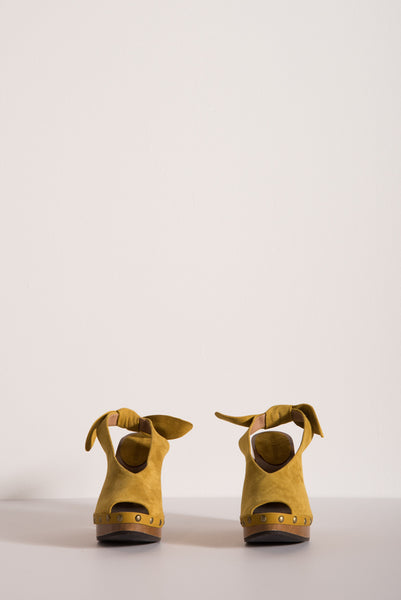 Mina Clog in Honey Suede