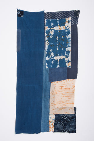 One-of-a-Kind Piecework Indigo Tapestry