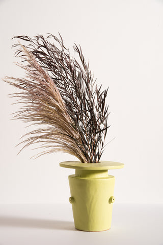 BZIPPY Saucer Top Vase in Chartreuse | Oroboro Store | New York, NY
