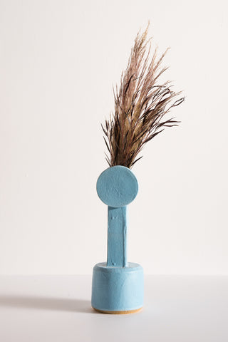 BZIPPY Medium Circle Top Vase in Light Blue | Oroboro Store | New York, NY