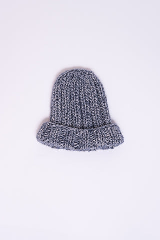 Clyde Fold Knit Hat in Denim Blue | Oroboro Store | New York, NY