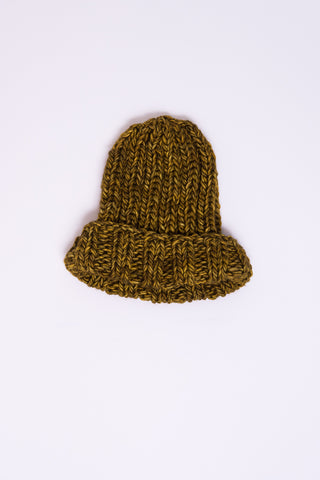 Clyde Fold Knit Hat in Burnt Yellow | Oroboro Store | New York, NY