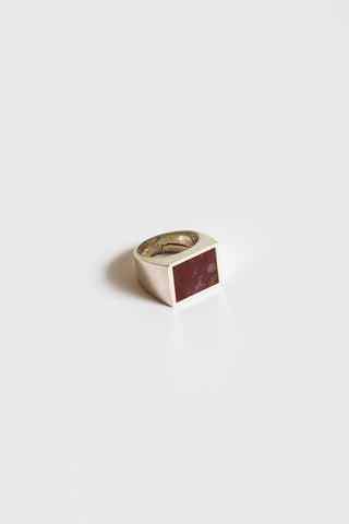 Legier Red Plum Agate Ring in Silver | Oroboro Store | New York, NY