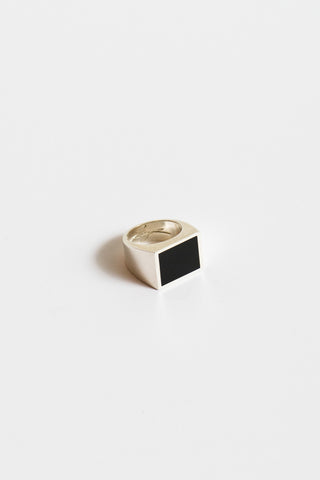 Legier Black Onyx Ring in Silver | Oroboro Store | New York, NY