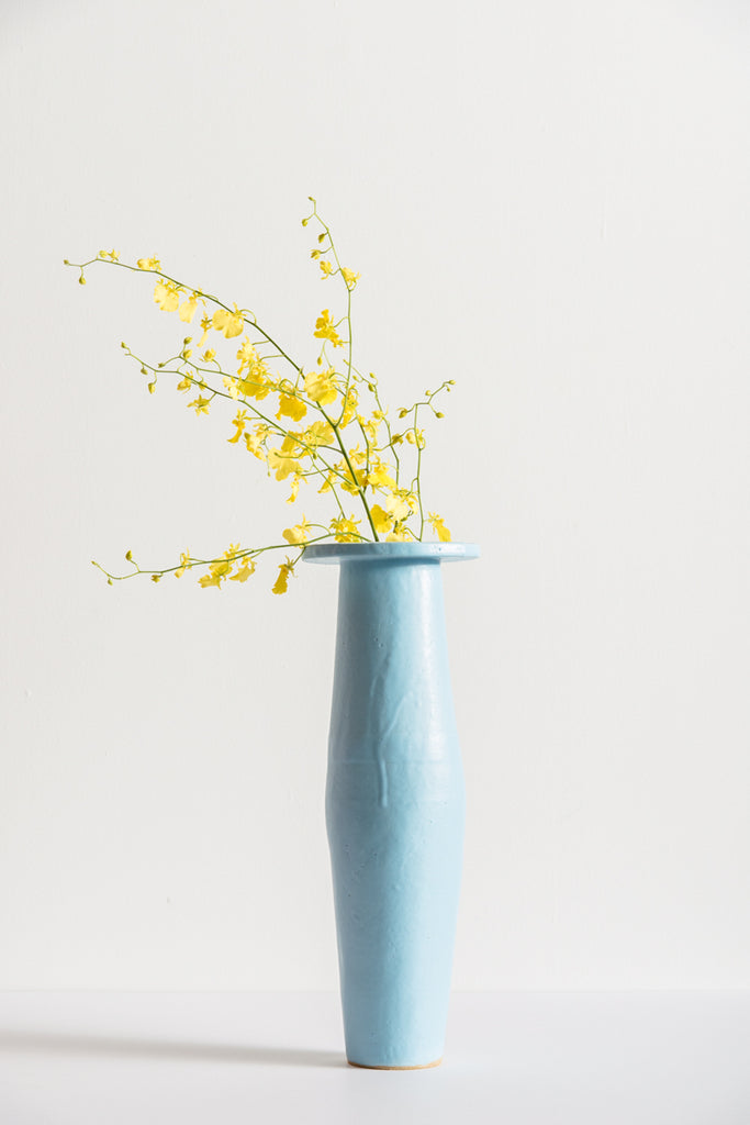 BZIPPY Tall Saucer Vase in Light Blue | Oroboro Store | New York, NY