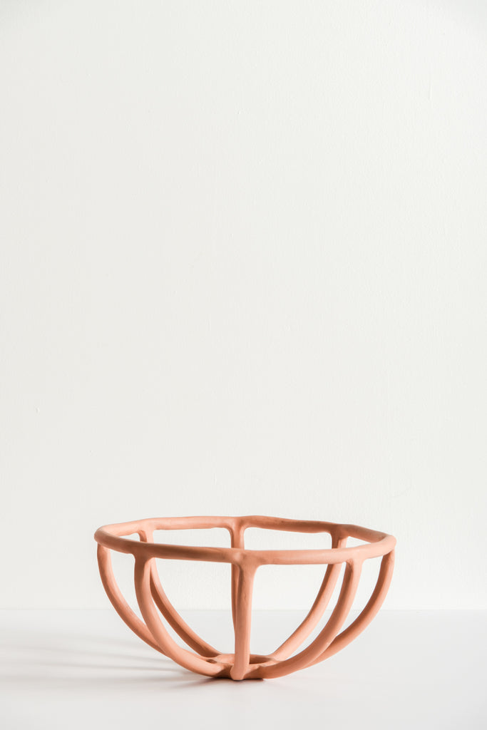 SIN Large Prong Fruit Bowl in Terracotta | Oroboro Store | New York, NY