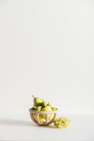 SIN Small Prong Fruit Bowl in Speckled Stoneware | Oroboro Store | New York, NY