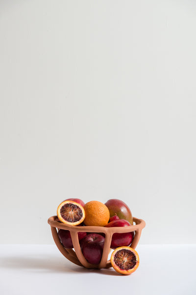 SIN Medium Prong Fruit Bowl in Terracotta | Oroboro Store | New York, NY