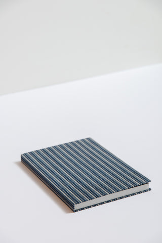 Saikai Matsusaka Momen Notebook in Fine Stripe | Oroboro Store | New York, NY
