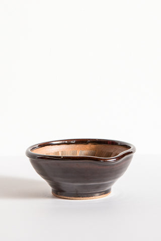 Travel Find Carved Ceramic Bowl in Brown | Oroboro Store | New York, NY