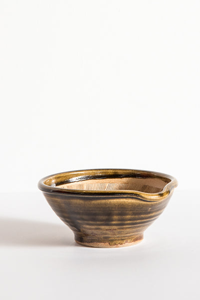 Travel Find Carved Ceramic Bowl in Green | Oroboro Store | New York, NY