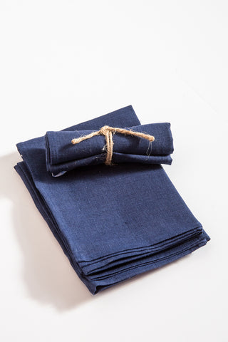 Fog Linen Thick Linen Kitchen Cloth in Blue Violet | Oroboro Store | New York, NY
