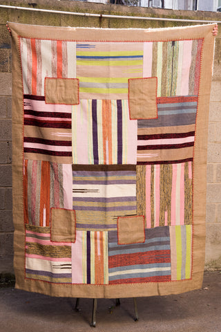 Travel Find Portuguese Patchwork Rug in Pink & Green | Oroboro Store | New York, NY