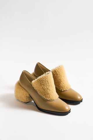 Nehera Nappa Shearling Boot in Walnut  | Oroboro Store | New York, NY