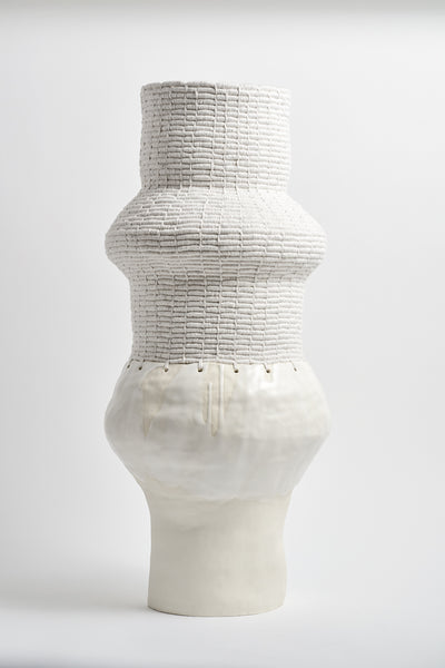 Karen Tinney One of a Kind Vessel #538 in White | Oroboro Store | New York, NY