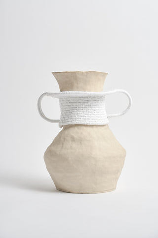 Karen Tinney One of a Kind Vase  #535  in Natural/White | Oroboro Store | New York, NY